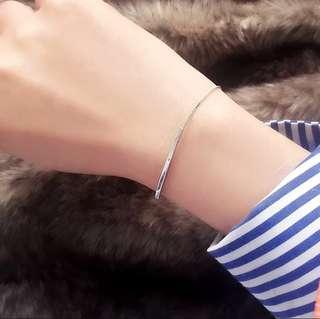Brand New Fine Chain Silver Bracelet