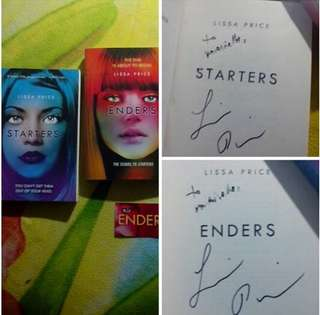 SIGNED Starters and Enders by Lissa Price