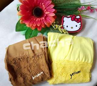 legging lace brown n yellow