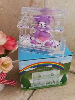 Crystal House Paper Weight & Pen Holder