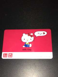 Hello Kitty Uniqlo Gift Card