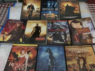 10 Original DVDs (Action and Adventure Package)