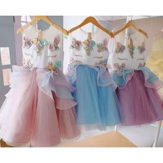 Unicorn party dress from 6 mnth - 6 y.o