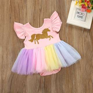 Unicorn dress for 1st bday party