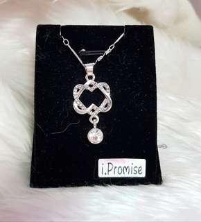 Swarovski elements crystal heart necklace