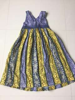 Poney Cross back purple dress