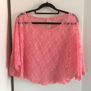 Pink TOP lace - preloved