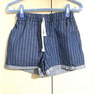 🚚 條紋牛仔褲 全新