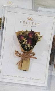 Cèleste Card with Dried Flowers (Congratulation card)