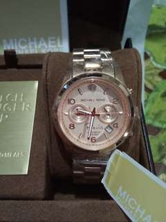 Authentic MK rose gold watch