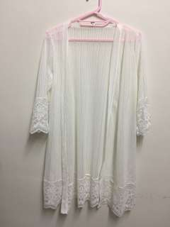 🚚 全新/超美直條紋長版罩衫