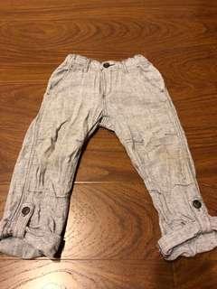 H&M麻棉透氣休閒褲