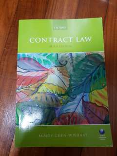 Contract Law Mindy Chen Wishart