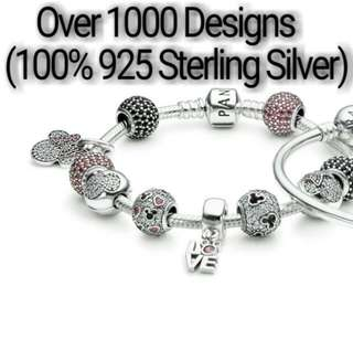 Over 1000 Designs (925 Sterling Silver Charms) To Choose From, Compatible With Pandora, T13