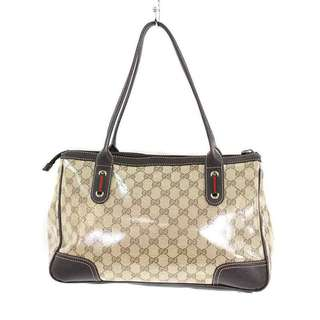 GUCCI GG Crystal Sherry Line Tote Bag (Beige × Brown) 【SK03】 【Accessories】 【714081】 SHIP FROM JAPAN