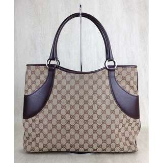 ★ GUCCI ◆ Gucci / tote bag / canvas / brown / total handle / 113016-205118  (SHIP FROM JAPAN)