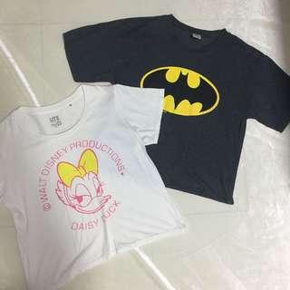 Daisy Crop Top and Batman Crop Top