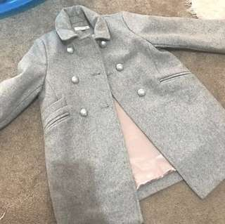Witchery grey coat size 5