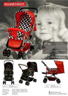 SWEET HEART PARIS ST50 BABY STROLLER