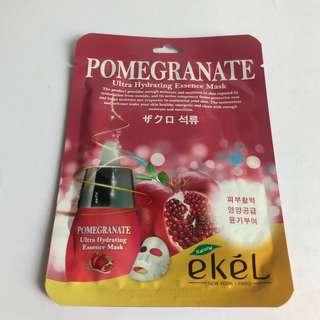 Ekel - Ultra Hydrating Essence Mask - POMEGRANATE