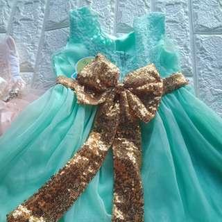 mint green dress gown
