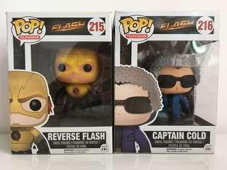Reverse Flash & Captain Cold Funko Pop Collectibles