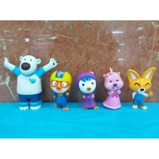 Pororo Figurine/ Cake Topper - 5 pcs in 1 set