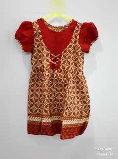 Dress batik anak 2 tahun