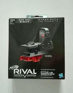 Nerf Rival Red Dot Sight RDS Adjustable Die Cast die-cast camlock cam-lock Black Color Hasbro TRU