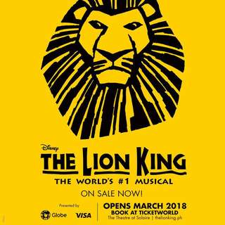 ONE LION KING TICKET