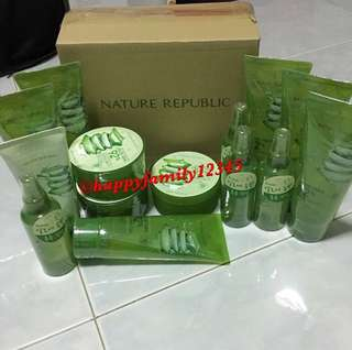 Nature Republic Aloe Vera Gel / Mist / Foaming Cleanser