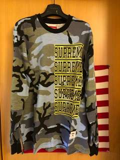 Supreme Ss18 week  Stacked L/S Top (m size )