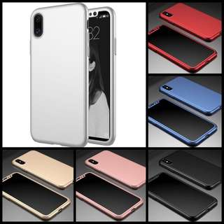 IPhone X 360 degree full ultra thin cover