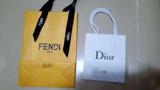 Fendi & Dior 袋, 每個$30。