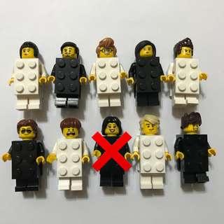 送送送 只送不賣 lego 磚型人 自家手工改做