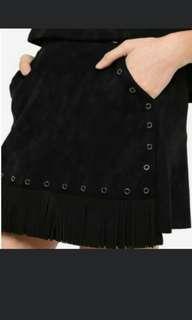 Repriced! Sale! Something Borrowed Fringed Eyelet Skirt