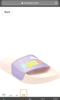 New in Box PUMA Leadcat Glitz Jr Slides Sandals size 5C