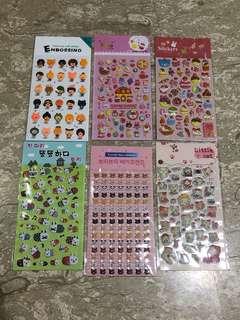 [Any3] Cute sponge stickers