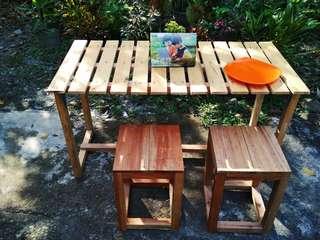 Meja dan Kursi Warung Kopi (1 SET = 1Meja dan 4Kursi)