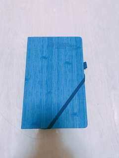 Single line hard cover notebook / writing book (blue)