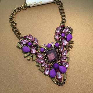 Purple Glam Statement Necklace