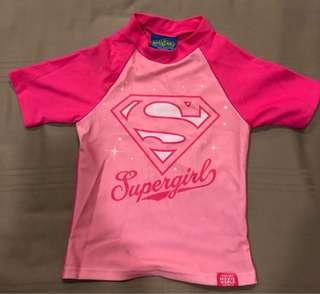Super Girl Swim Top
