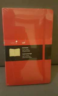 Red Venzi Lined Journal