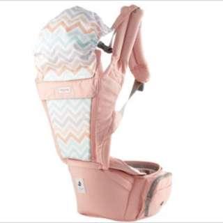 🚚 Pognae ORGA PLUS 有機棉all in one(粉色)嬰兒背巾.嬰兒背帶
