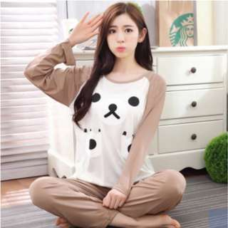 Women long sleeves cute bear Pajamas - soft and light material