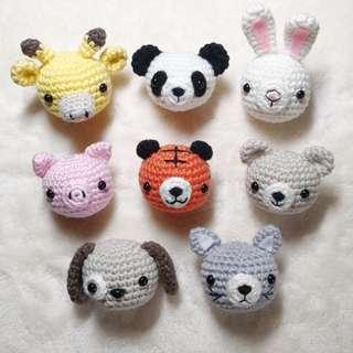 Amigurumi (crochet) Animal Keychain