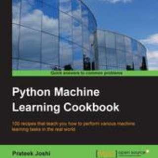 Python Machine Learning Cookbook By Prateek Joshi June 2016