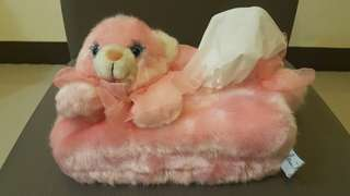 Fluffy tissue box cover