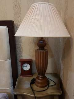 Bed side lamp (2) mahony wood