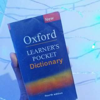"Kamus Oxford ""Learner's Pocket Dictionary'"